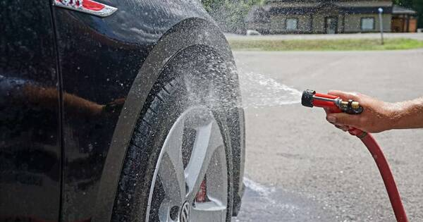 Washing and cleaning vehicles on common property